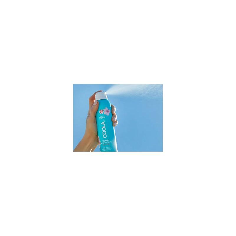 Coola sunscreen spray guava mango spf 50